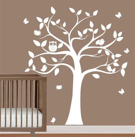babies nursery tree wall decal tree silhouette with