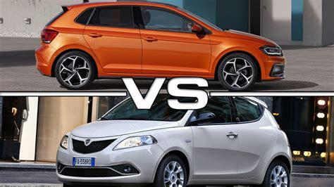 2018 Volkswagen Polo vs 2017 Lancia Ypsilon Mya - YouTube