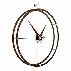 Doble O Horloge Design Nomon 70 Acier Et Bois