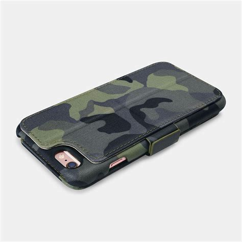 Credit card slot holds one card. iPhone 6 Plus/6S Plus Camouflage Wallet leather Case with Four Credit Cards Slot