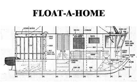 Scow Houseboat Plans by Free Boat Plans For The 21 Float A Home Extremely Simple