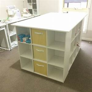 Sewing Cutting Table Ikea Expedit Sewing Crafting Cutting Table