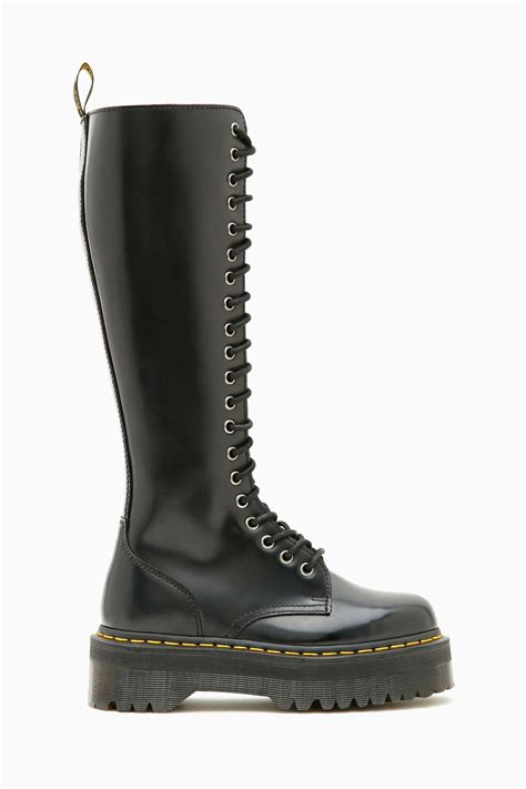 nasty gal dr martens britain  eye boot  black lyst