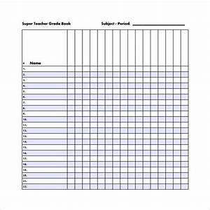 sample gradebook template 7 free documents in pdf word excel psd homeschool pinterest With free grade book template