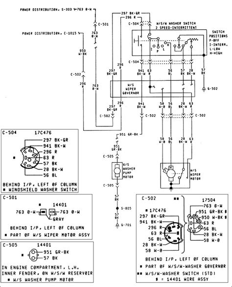 Windshield Wiper Switch Diagram Pin Out Ford Muscle