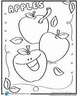 Coloring Apple Apples Preschool Preschoolers Worksheet Kindergarten Printable Worksheets Sheet Activities Template Alphabet Az Sheets Colouring Clipart Printables Toddler Fall sketch template