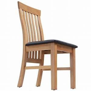 Küchen Und Esszimmerstühle : eiche 4 esszimmerst hle stuhl massivholz mit kunstleder ~ Watch28wear.com Haus und Dekorationen