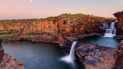 Wallpapers Photo by Australia Cliff National Park Blue Falls Wallpaper