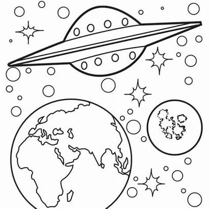 Space Coloring Pages Printable Outer Earth