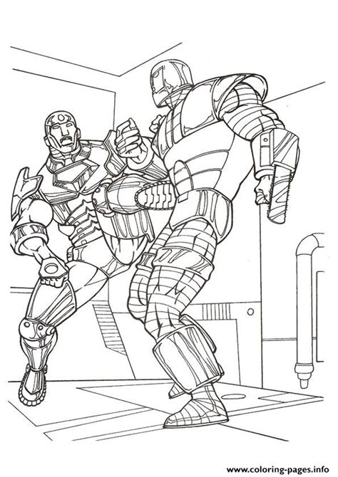 avengers colouring pages a4 iron man in combat a4 avengers marvel coloring pages printable