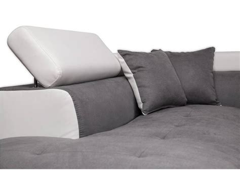 canapé d angle non convertible canapé d 39 angle gauche convertible avec coffre blanc gris