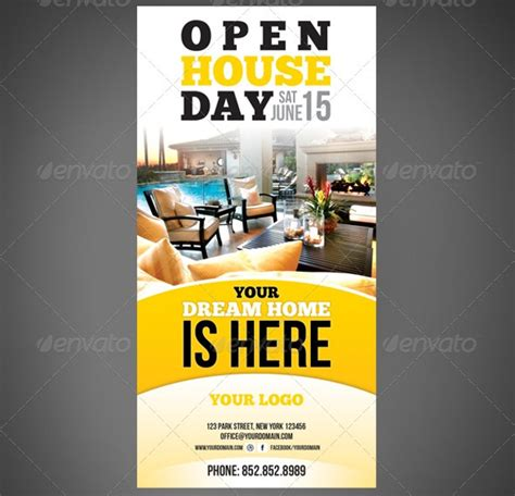open house flyer designs psd word eps