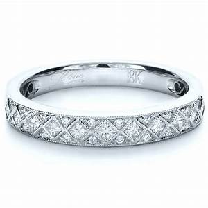 princess cut diamond women39s wedding band 1145 With princess cut wedding rings for women