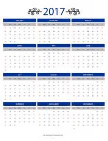 Free Printable 12 Month Calendar 2017