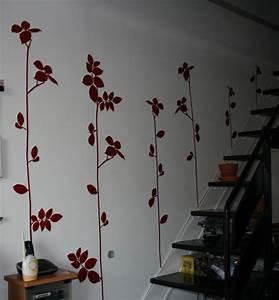 Decoration Murale Montee Escalier : d coration murale rouge de garance les cr ations de circ e ~ Dailycaller-alerts.com Idées de Décoration