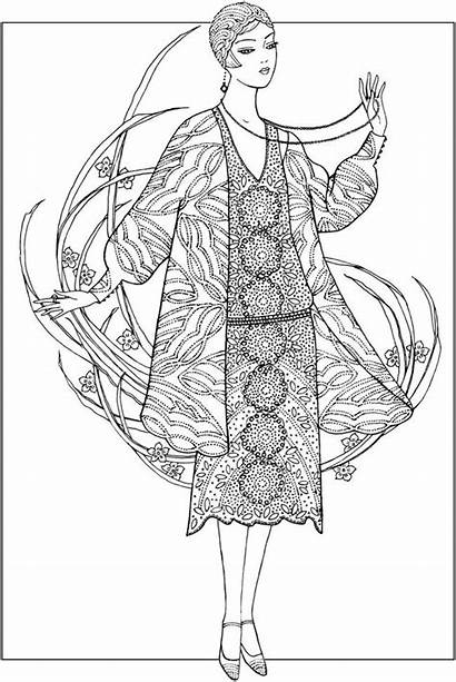 Coloring Pages Dover Adult 1920s Creative Haven