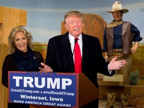 trump earns endorsement  john wayne family  actors birthplace    place  iowa