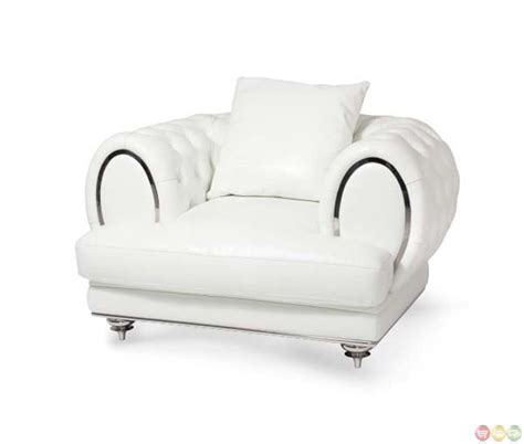 michael amini mia bella modern tufted leather chair and