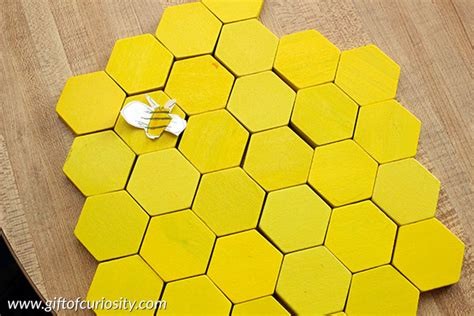 pattern idea make a beehive model from pattern blocks gift of curiosity