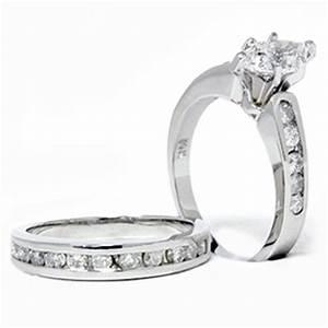 2 carat marquise enhanced diamond engagement wedding ring With 2 carat diamond wedding ring set