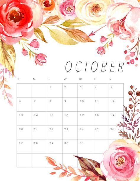 printable  floral calendar cute calendar