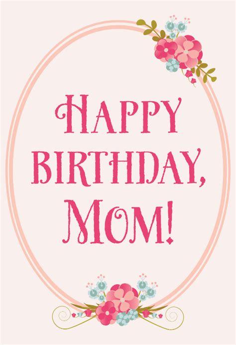 floral birthday  mom  birthday card