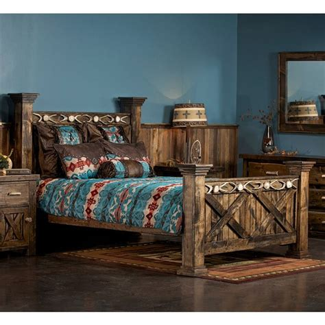 antler barnwood bed home ideas wood beds door bed