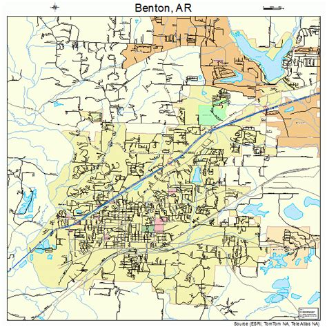 Benton Arkansas Street Map 0505290