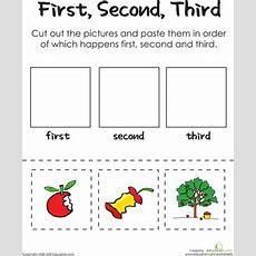 First, Second, Third An Apple A Day Worksheet