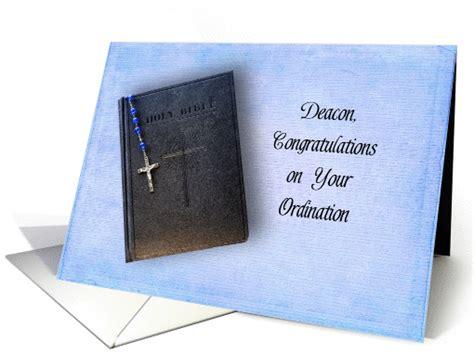 deacon ordination congratulations greeting card black