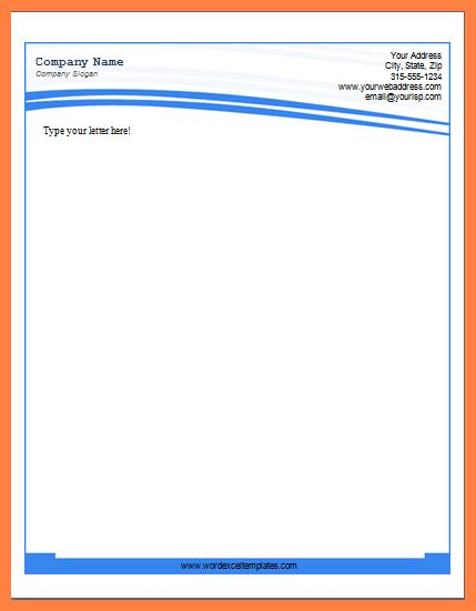 microsoft word letterhead templates company letterhead