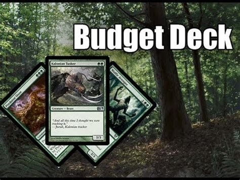 mtg deck wins budget mtg budget deck tech mono green