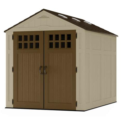 home depot suncast shed suncast everett 6 ft 2 75 in x 8 ft 1 75 in resin