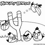 Coloring Pages Angry Birds Slingshot Template Glock Sketch sketch template