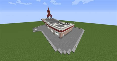 minecraft truck stop 1950 39 s gas station fallout 4 red rocket gas station