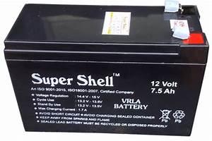 Batterie 12 Volts : super shell 12 v ups battery capacity 7 5 ah rs 550 ~ Farleysfitness.com Idées de Décoration