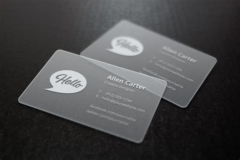 translucent business cards mockup graphicburger