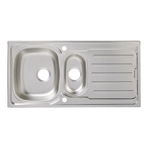 cooke and lewis kitchen sinks cooke lewis 1 bowl polished stainless steel sink tap 8328