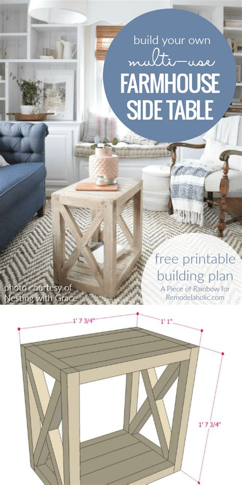 Building Bedroom End Tables by Remodelaholic Diy Planked X Farmhouse Side Table Free
