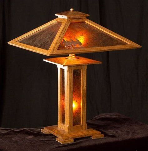 mission style lamp plans woodworking projects plans