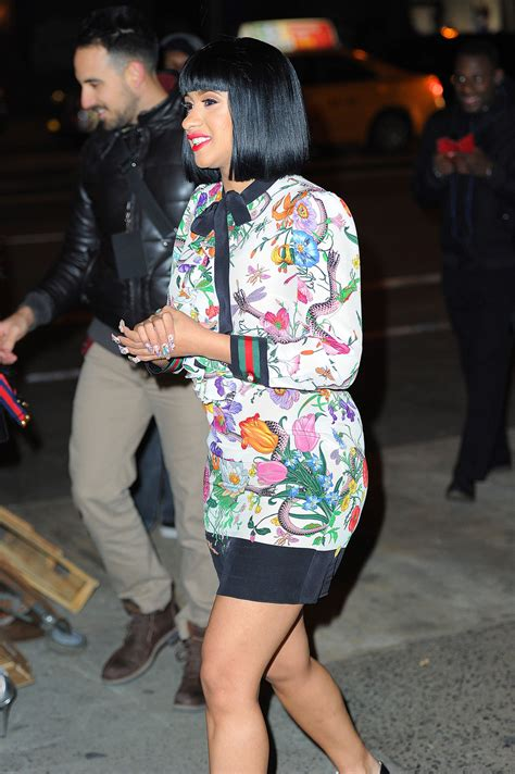 Get The Look: Cardi B's New York City Gucci Floral Snake ...