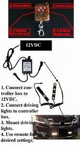 Remote Controlled Driving Light Two 4 Watt  U0026 Remote 12 Vdc