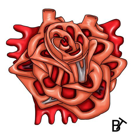 heart rose tattoo design  brain twinge  deviantart