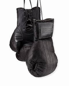 Elisabeth Weinstock Matte Watersnake Boxing Gloves, Black