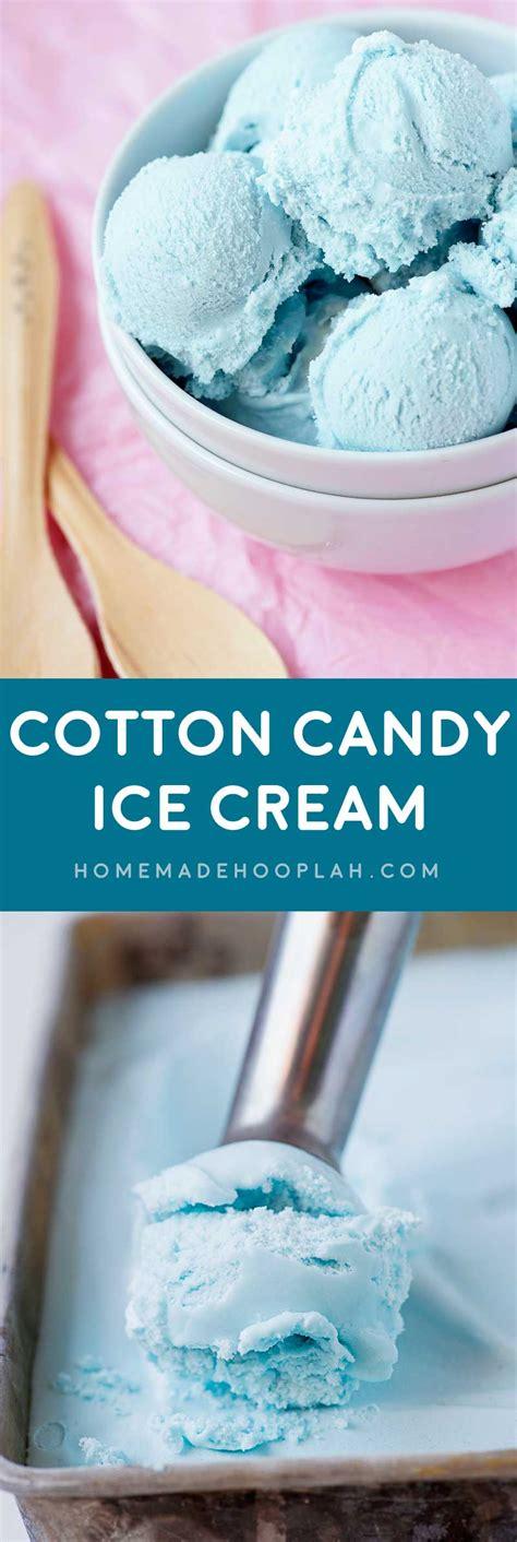 cotton candy ice cream homemade hooplah