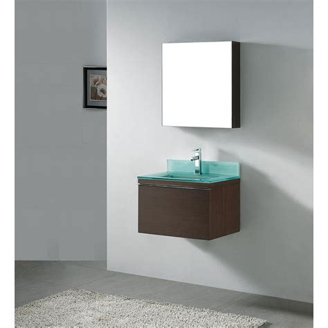 "Madeli Venasca 24"" Bathroom Vanity with Glass Basin"