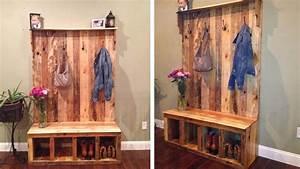 Acheter Meuble En Palette Bois : meuble porte manteau en palette ~ Premium-room.com Idées de Décoration