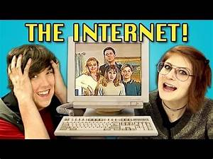 TEENS REACT TO 90s INTERNET - YouTube