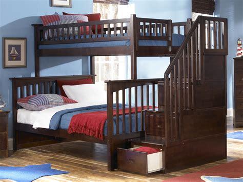 columbia staircase bunk bed atlantic furniture