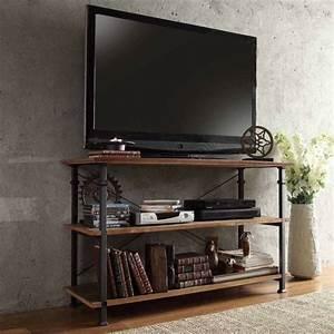 Meuble Tv Avec Etagere : personnalisez votre salon avec le meuble tv industriel ~ Teatrodelosmanantiales.com Idées de Décoration